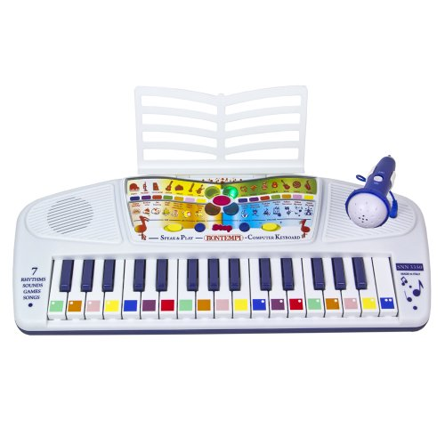 32 Key Speaking Piano Keyboard With Microphone For Kids, Toys For Kids