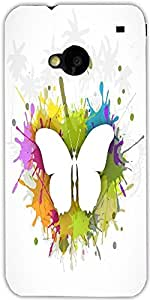 Snoogg Abstract Summer Background Designer Protective Back Case Cover For Htc...