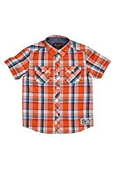 Poppers by Pantaloons Casual Shirt_Orange_7-8YRS