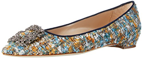 manolo-blahnik-womens-textil-in-karl-2-ballet-flats-blue-size-12