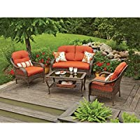 Patio Furniture All Weather Wicker Outdoor Lawn & Garden Azalea Ridge Better Homes & Gardens 4 Pc With Cushions from PATIO FURNITURE