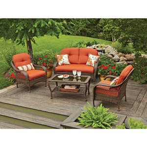 PATIO FURNITURE ALL WEATHER WICKER OUTDOOR LAWN