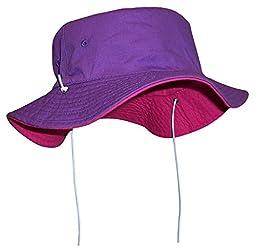 N\'Ice Caps Unisex Kids Reversible And Adjustable Cotton Twill Aussie Hat (52cm(20.5\