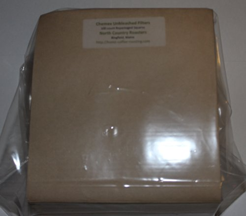 Repackaged Chemex (100) Unbleached, Natural Fiber Filter Squares (Fsu-100)