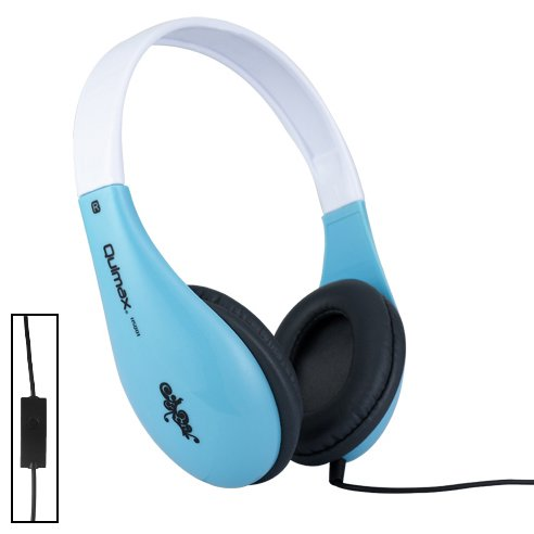Qulmax ® Mediacom SmartPad 10.1 HD iPro111 / Mediacom SmartPad i10 3G Tablet Blau Dynamische HD Kopfhörer (HSQ01) mit Mikrofon und Fernbedienung