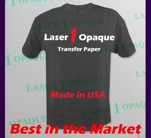 Laser 1 Opaque Dark Shirt Heat Transfer Paper 11x17 10 Sheets