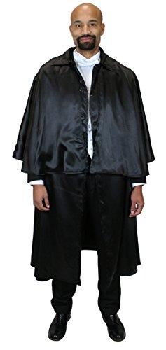 Victorian Mens Suits & Coats Satin Inverness Dress Cloak $118.95 AT vintagedancer.com
