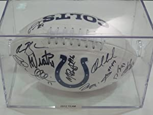 2012 Indianapolis Colts Team Signed Football Andrew Luck Rookie Autograph and More... by Riddell