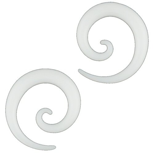 Pair of Glass Micro Spirals: 10g White