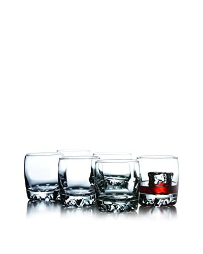 Crystal Clear Set of 6 Montego 9-Oz. Double Old Fashioned Glasses