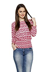 LEBE WOMEN'S CASUAL PRINTED COTTON TOP