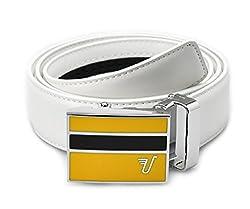 Mission Belt Men's Ratchet Belt - Charlie Buckle / Snow White Leather, Custom (Up To 56)