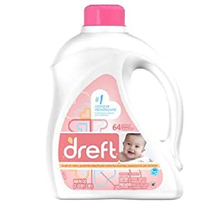 Dreft 2x Ultra Dreft HE 64 loads, 100.0-Ounce Bottles