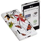 "yayago - Joy Case ""Butterfly"" - Bunte Muster Tasche Blume Hülle Schutzhülle für LG Optimus L5 (E610)"