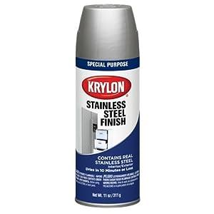 krylon k02400000 stainless steel finish aerosol spray. Black Bedroom Furniture Sets. Home Design Ideas