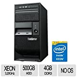 Lenovo ThinkServer TS140 70A4001MUX 5U Tower Server (3.2 GHz Intel Xeon E3-1225 v3 Processor, 4 GB ECC RAM, 500 GB HDD, DVD-ROM, No OS) Black