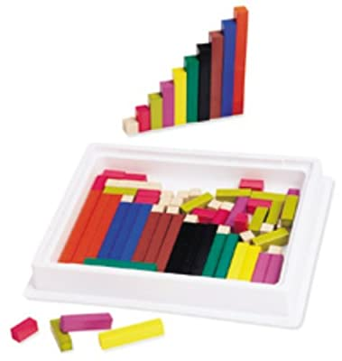 Cuisenaire Rods Intro Set; Wood - 74 Rods; no. LER7501