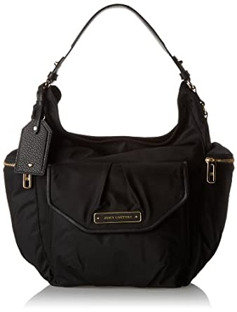 Juicy Couture Grove Nylon Hobo Shoulder Bag,Black,One Size