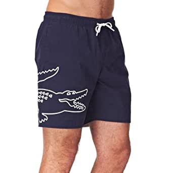 Lacoste Croc Print Swimming Shorts - Navy Blue