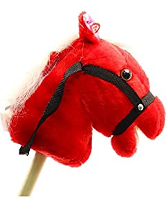 M & F Western Boys' Talking Stick Pony Red One Size