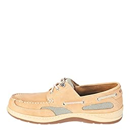 Sebago Men\'s Clovehitch II Taupe/Brown Deck Boat Slip Resistant Shoes, 10 WW