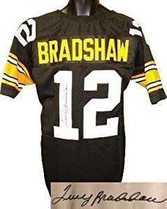 Terry Bradshaw Autographed Hand Signed Pittsburgh Steelers Black Prostyle Jersey- JSA... by Hall of Fame Memorabilia