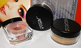 Bundle 4 Items: 2x Micabella (Mica Beauty) Mineral Makeup Foundation+#mb6 Blush Wild Rose Aviva Nail Buffer