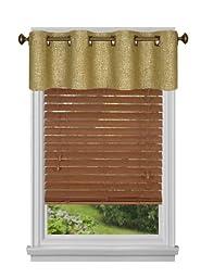 Achim Home Furnishings Hudson Tier Pair, 58-Inch by 24-Inch, Onyx