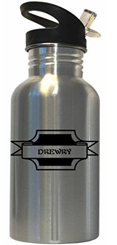 drewry-surname-stainless-steel-water-bottle-straw-top