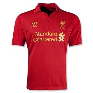 Liverpool Football Shirt 12-13 Blank Soccer Jersey Home Size Xl