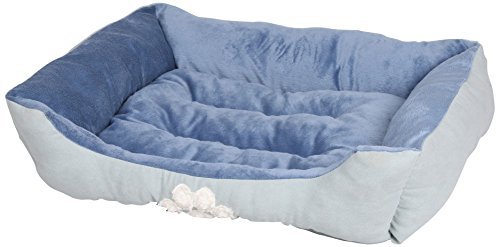 HappyCare-Textiles-Rectangle-Pet-Bed-with-Dog-Paw-Printing