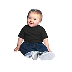 Rabbit Skins Infant T-Shirt 6M Black