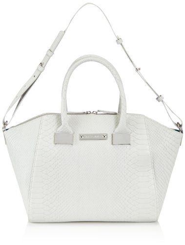 Friis & Company Womens Talin Everyday Bag - Light Grey Handbag Gray Grau (Grau 015) Size: 30x45x45 cm (B x H x T)