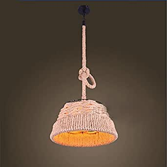 Adsled Rope Wire Cord E27 Drop Light Vintage Chandelier