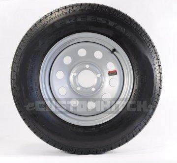 Trailer Tire On Rim ST205//75D14 2057514 F78-14 LRC 5 Lug Wheel White Modular