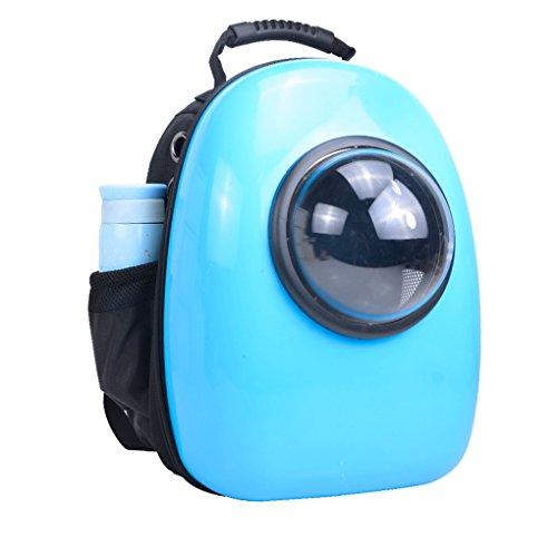 YANXI Women Luxury Portable 25L Poly Carbonate Pet Carrier Backpack Travel Hand Shoulder Bag For 14lp Cat Dog (Blue)
