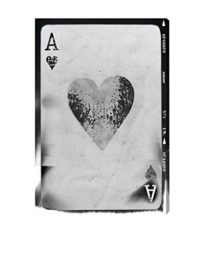 Oliver Gal Ace Of Hearts Reversed Canvas Art