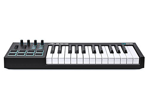 alesis v25 25 key usb midi keyboard drum pad controller 8 pads 4 knobs 4 buttons. Black Bedroom Furniture Sets. Home Design Ideas