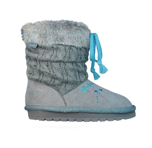 Skechers Infant/Toddler Girls' Twinkle Toes Keepsakes Peaceful,Gray/Blue,Us 10 M front-876627