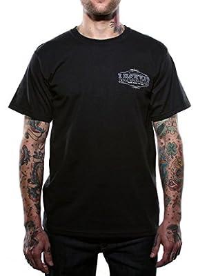 Lucky 13 Mens Pin Up Queen Sexy Tattooed Girl Hotrod Logo T-Shirt
