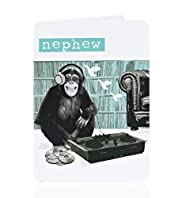 DJ Chimp Nephew Birthday Card