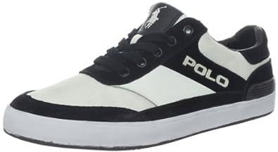 Polo Ralph Lauren Men's Nikolas Fashion Sneaker,White/Black/Polo Black,7 D US