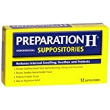 PREPARATION H SUPPOSITORIES 12TB by PFIZER CONS HEALTHCARE [Health and Beauty]