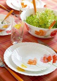 service vaisselle arcopal luminarc flowerly 38pcs cuisine maison. Black Bedroom Furniture Sets. Home Design Ideas