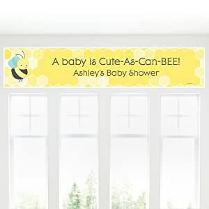 baby shower banner honey bee toys games