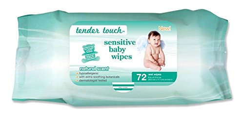 Best Selling, Dermatologist Tested, Tender Touch Sensitive Skin 72 Count, Baby Wipes, - 1