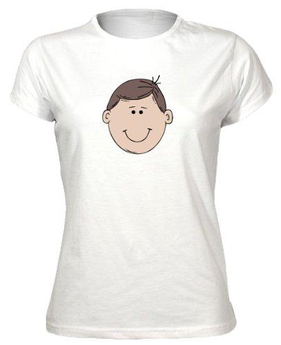 Cute Cartoon Face Novelty Womens T-Shirt