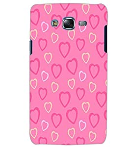 SAMSUNG GALAXY J5 HEART PATTERN Back Cover by PRINTSWAG