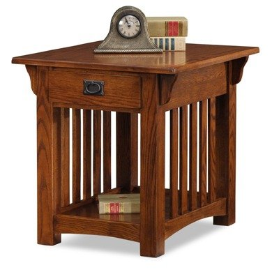Cheap Medium Oak Mission Style End Table (B0034EZFBS)