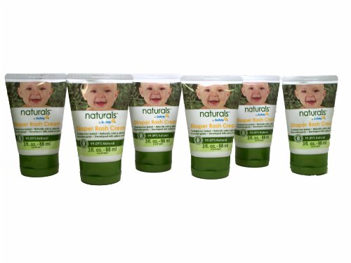 Saftey 1St Naturals Diaper Rash Cream, 3-Ounce Tubes (6 Pack) front-1005272